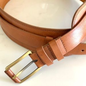 Cole Haan Camel Color Leather Belt & Leather Panel